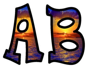 Sunset Bulletin Board Alphabet Letters