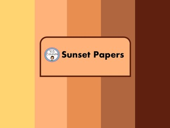 Sunset Paper -Freebie