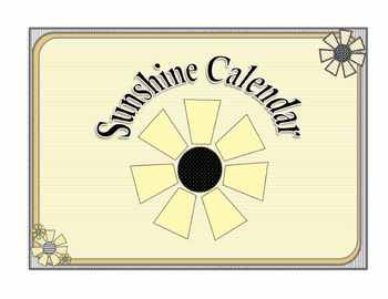 Sunshine Calendar and Notes