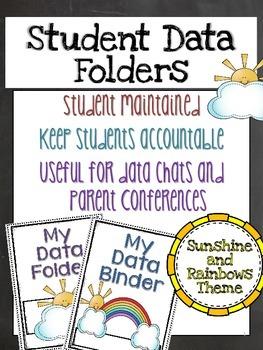 Sunshine and Rainbows Student Data Binder