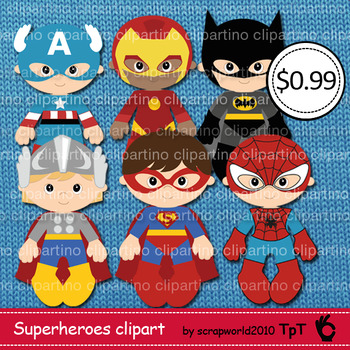 Supeheroes clipart, boy superhro clip art,commercial use -Bundle