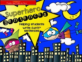 Superhero Sentence Writing