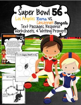Super Bowl 50 Team Reading Passages, Response Worksheets,