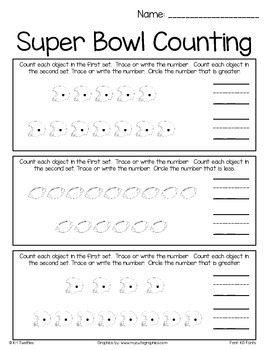 Super Bowl Counting & Color By Number