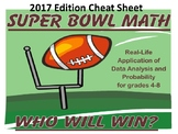 Super Bowl Math Cheat Sheet - 2017 Version