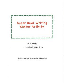 Super Bowl Writing Center Activity