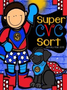 Super CVC Sort - NO PREP Practice Pages