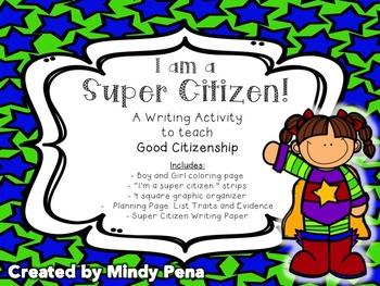 Super Citizen Writing Activity: Good Citizenship