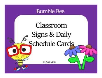 Super Cute Master & Daily Schedule Cards, plus Classroom l