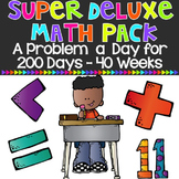 Super Deluxe Math Pack: A Problem a Day for 200 days {40 weeks}