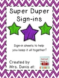 Super Duper Sign-Ins