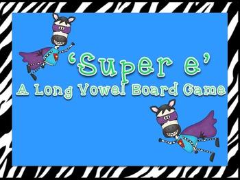 Super E! A CVCe (silent e) Phonics Game