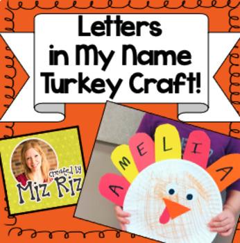 Super Easy Turkey Name Craft!