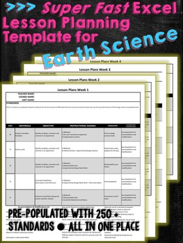 Super Fast Lesson Planning Template for NGSS HS Earth Spac