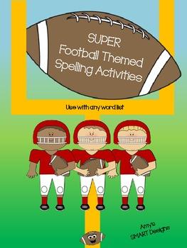 Super Football Themed Spelling Activities