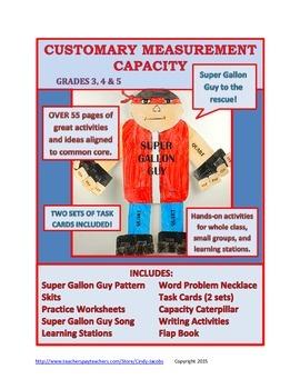 Super Gallon Guy Customary Measurement Capacity Book