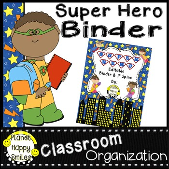 Super Hero Any Grade Binder and Spine Set (Editable)