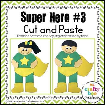 Super Hero #3 Cut and Paste