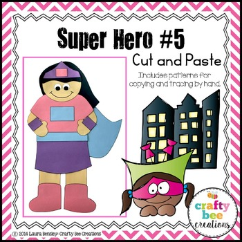 Super Hero #5 Cut and Paste