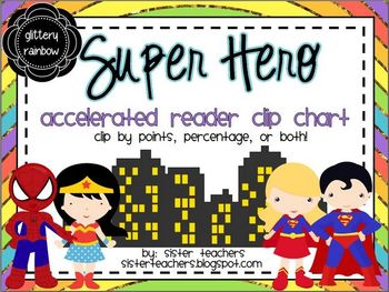 Super Hero Accelerated Reader Clip Chart *glittery rainbow*