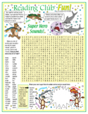 Super Hero Action Sounds (Onomatopoeia) Word Search Puzzle