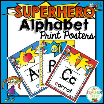 Super Hero Alphabet Posters {Print}