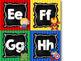 Super Hero Alphabet Word Wall Letters {Chalkboard & Bright