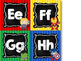 Super Hero Alphabet Word Wall Letters {Chalkboard & Bright