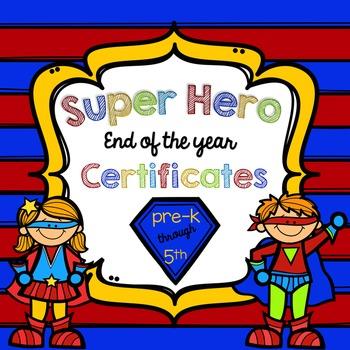 *Editable* Super Hero Award Certificates and Diplomas