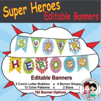 Super Hero (Editable) Banners Pack