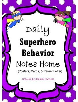 Super Hero Behavior Plan and Parent Letter