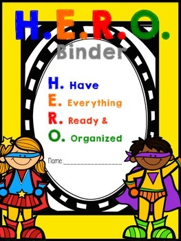 Super Hero Binder Labels