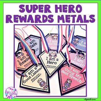 Super Hero Brag Tag Medals