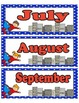 Super Hero Calendar Month Headings