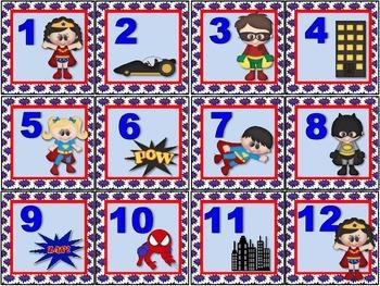 Super Hero Calendar Set.