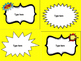 Super Hero Calendar Numbers, Supply Labels & Subject Posters