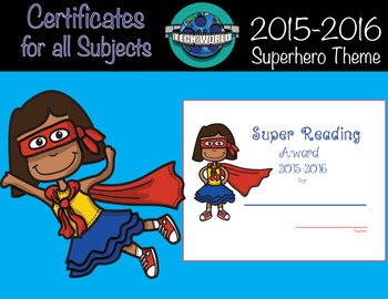 Superhero Certificates