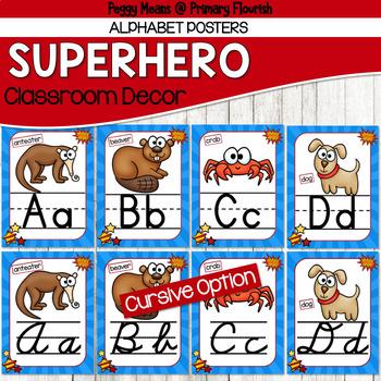 Super Hero Classroom Decor {Alphabet}