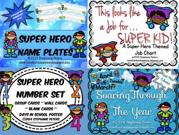 Super Hero Classroom Decor Starter Set Bundle