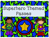 Super Hero Classroom Passes