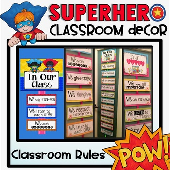 Classroom Rules {Superhero Classroom Decor Theme}