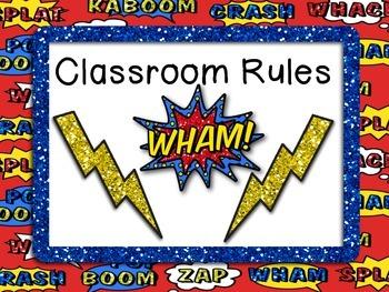 Superhero Classroom Rules!