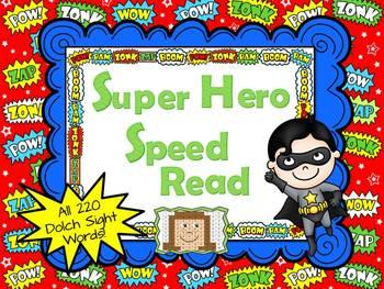 Super Hero Dolch Speed Read