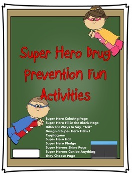 Drug Free Super Hero Activity Booklet