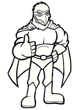 Super Hero Eagle Mascot