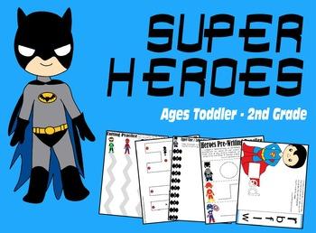 Super Hero Worksheets (Toddler, Preschool, Kindergarten +)