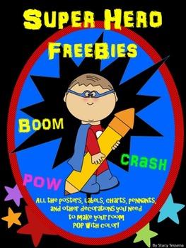 Super Hero Freebie