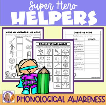 Consonant Digraphs: Super Hero Helper Program