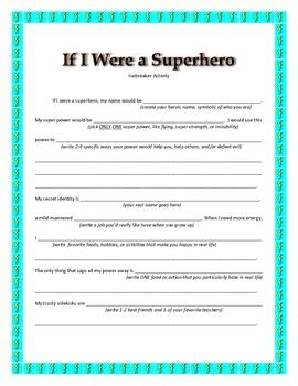 Super Hero Ice Breaker