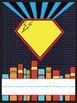 Super Hero Locker Name Plates & Number Line 1-20 English a